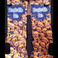 Despicable Me 2 Customer Request Custom Nike Elite Socks Parody
