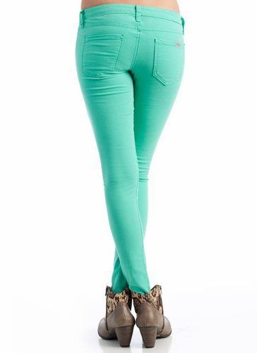 solid colored skinny jeans &amp;#36;36.80 in MINT - New Bottoms | GoJane.com