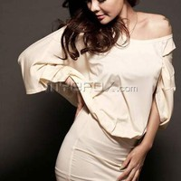 2012 New Spring Slim Bat Sleeve Dress D00202-Dress