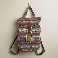 Brown and Pink Carpet Backpack