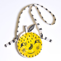Roxy Marj Lemon Face Pocket Purse