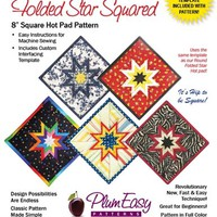 Pattern, Folded Star, Hot Pad, Square by Plum Easy Patterns