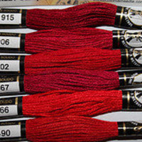 Embroidery Floss New Presencia Scarlet color by purrfectstitchers