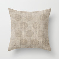 Poka dot burlap (Hessian series 2 of 3) Throw Pillow by John Medbury (LAZY J Studios) | Society6