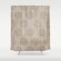 Poka dot burlap (Hessian series 2 of 3) Shower Curtain by John Medbury (LAZY J Studios) | Society6