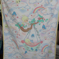 Hand Made Baby Quilt Precious Moments hand by purrfectstitchers