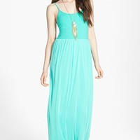 Frenchi® V-Strap Maxi Dress (Juniors) | Nordstrom