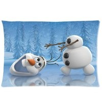Disney Movie 3D Cartoon Frozen Cute Olaf Custom Rectangle Pillow Cases 20x30 (one side)