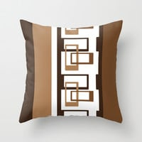 Retro Pattern 03 Throw Pillow by Ramon Martinez Jr