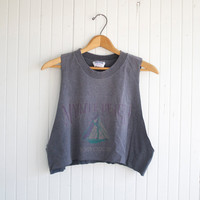 Retro Myrtle Beach Crop Top - S/M