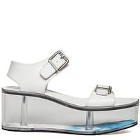 The Athena Sandal in White