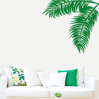 Wall Decal Vinyl Sticker Decals Art Decor Design Couple Palm Branch Tree Flower Sun Summer Hawaii Surf Dorm Bedroom Mural Modern (r465)