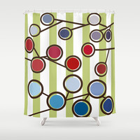 Melange Shower Curtain by Ramon Martinez Jr