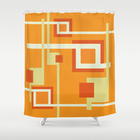 Mandarin Shower Curtain by Ramon Martinez Jr