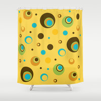 Retro Pattern 11 Shower Curtain by Ramon Martinez Jr