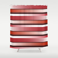 Vermillion Shower Curtain by Ramon Martinez Jr
