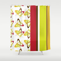 Retro Pattern 04 Shower Curtain by Ramon Martinez Jr