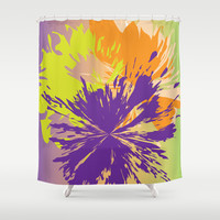 Abstract 135 Shower Curtain by Ramon Martinez Jr