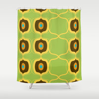 Retro Pattern 12 Shower Curtain by Ramon Martinez Jr