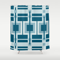 Ebbtide Shower Curtain by Ramon Martinez Jr