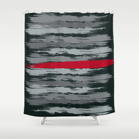 Scarlet Revolution Shower Curtain by Ramon Martinez Jr