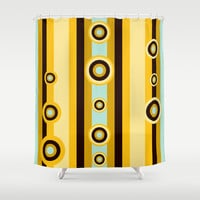 Retro Pattern 07 Shower Curtain by Ramon Martinez Jr