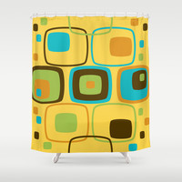 Retro Pattern 13 Shower Curtain by Ramon Martinez Jr