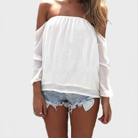 Wisteria Lane Off the Shoulder Blouse - Ivory | Daily Chic