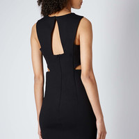 Compact Jersey Bodycon Dress - Black