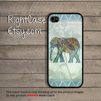 ELEPHANT FLORAL IPHONE 4S Case Aztec And Animal Samsung Galaxy S4 Galaxy S3 iPhone 5 Case iPhone 4 Cover iPhone 5S Case 5C Pastel Phone Case