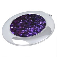 Sparkle Royal Purple Faux Glitter Compact