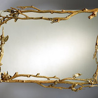 Magnolia Mirror: Bill Masterpool: Metal Mirror - Artful Home
