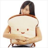 New a slice of BREAD Plush CUSHION PILLOW for floor chair decoration gift cute