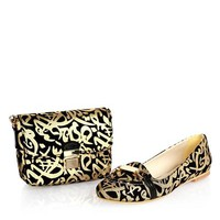 Maria Juliana Metallic Print Clutch & Flats Set Made In Europe - 			        	Sunglasses mens