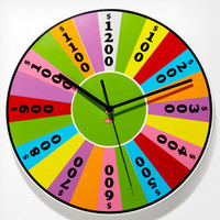 Time Is Money Game Show Clock | Wheel of Fortune Clock | fredflare.com