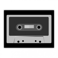Retro Vintage Cassette Tape Cool Music Wood Print