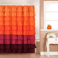 Walmart: Somerset Harvest Ruffle Home Shower Curtain with Buttonholes