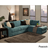 Furniture of America Faith Deluxe Contemporary Microfiber Fabric Upholstered 2-piece Sectional
