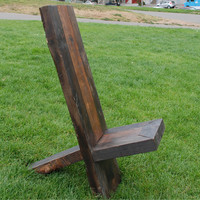 Natural Reclaimed Wood X Chair