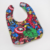 Toddler Bib - Marvel Baby Bib - Boy Bib, Unisex Bib, Soft Flannel Bib Backing, Girl Bib, Toddler Gift, Unisex Bib