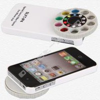 White Special Lens + Filter Turret for Apple iPhone 4 4s free shipping