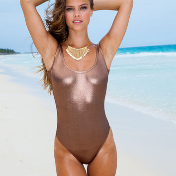 Liquid Bronze Tank One Piece – Sauvage Swimwear