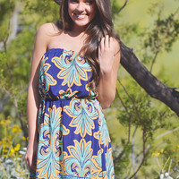 Have A Little Faith In Me Dress - Navy