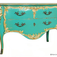 Fabulous and Baroque — Louis XV Commode - Aqua