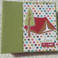 6x6 Chipboard Camping Scrapbook Photo Album