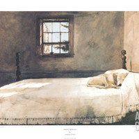 Master Bedroom Print by Andrew Wyeth at Art.com