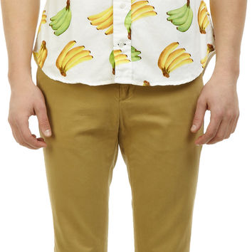 Banana-Print Short-Sleeve Shirt