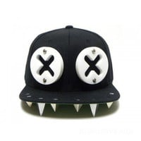 Rock Hip-hop Adult adjustable Rivets Spike Spiky Studded Baseball Hedgehog Cap Unisex Hat