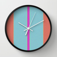 Re-Created Interference ONE No. 9 Wall Clock by Robert S. Lee