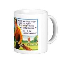 Coffee Mug - Comic - Golf - Play Around